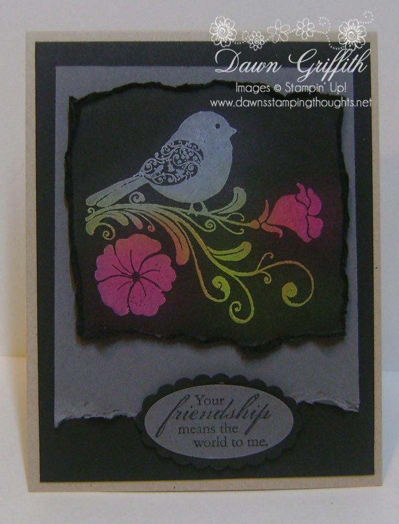 Chalkboard  friendship card
