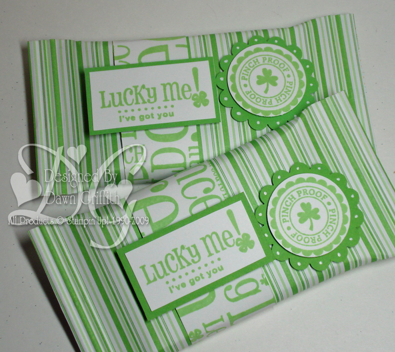 St Patricks Day candy wrappers