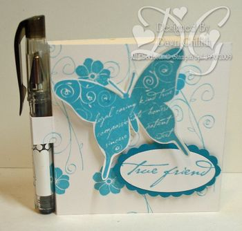 Post it note holder and pen