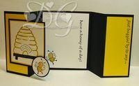Gate fold card Bees