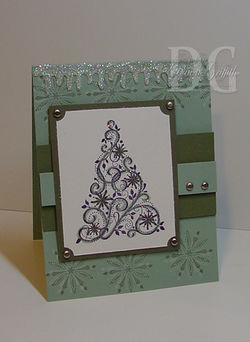 Making icicles card