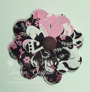 Big shot flower brooch Dawn Griffith