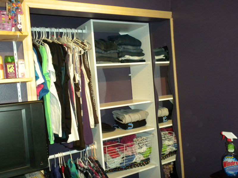 Jessie's new closet organizer