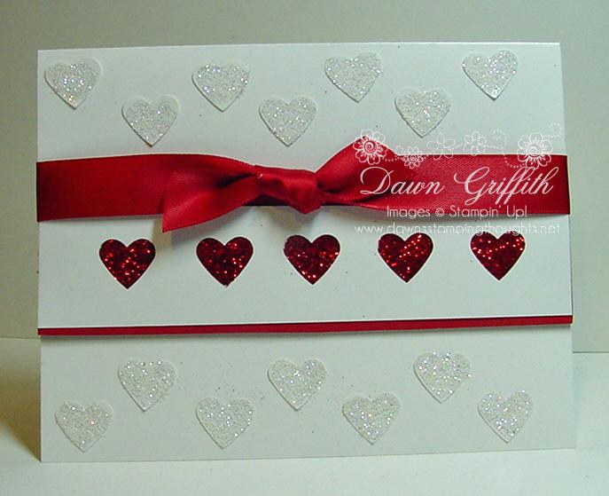 Sparkley & glamorous heart card