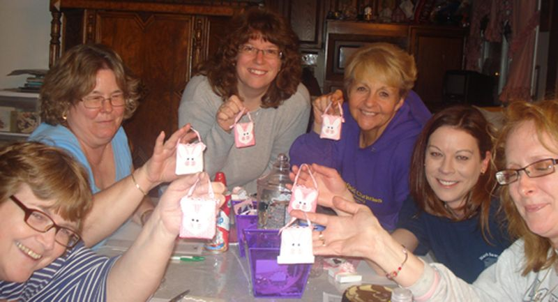 Stamper club meeting  March 13, 2010 Gift  from Gina