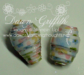 Paper bead gifts for  Downline  meeting with Shelli gifts