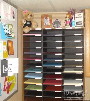 Paper organized for new colors