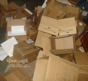 Empty catalog boxes