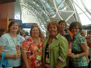 Glitter Queens heading in to make our color charts