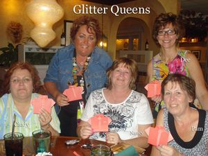 Glitter Queens Dinner night with M&T