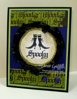 Spooky with Waffle Paper