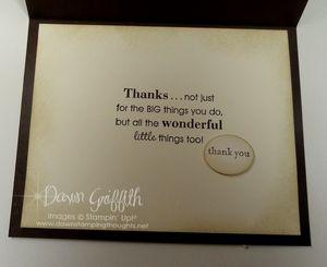 Card for Pastor  inside