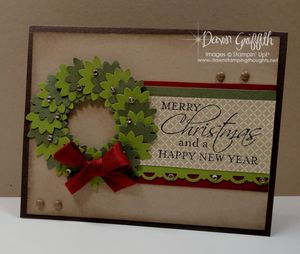 Christmas Wreath card #1