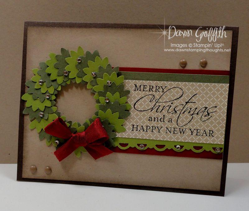 Christmas Wreath card #1