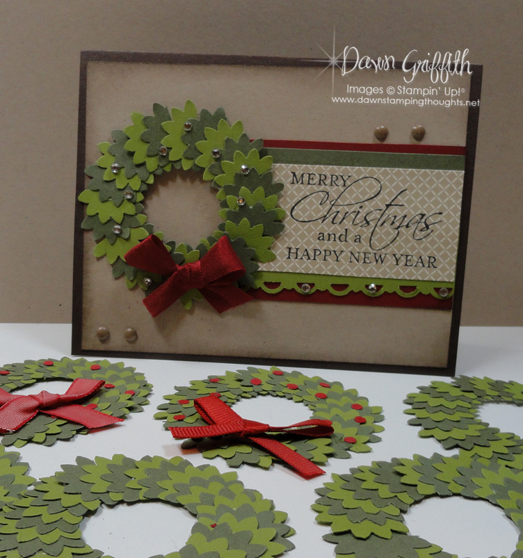 Christmas Wreaths with card