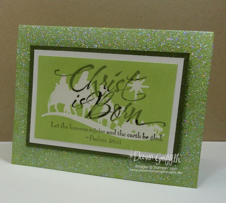Christ is Born card