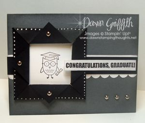 Owl Frame Congrates card