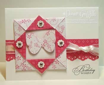 Melon Mambo Butterfly Paper frame card