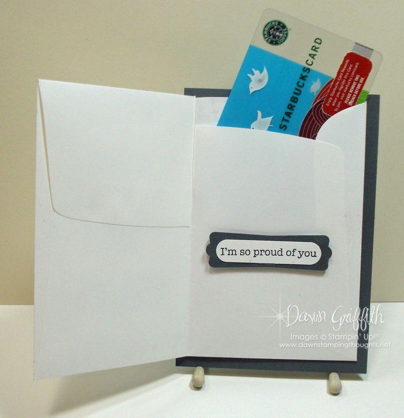 Gift card holder opened #1
