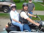 Jody and Rich on his new bike