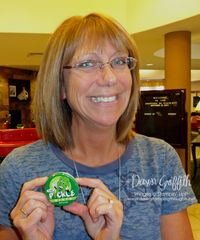 Barb with the Pickle Mints she gave me at FC 2010