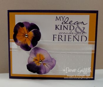 Dear Sweet Friend Pansies card