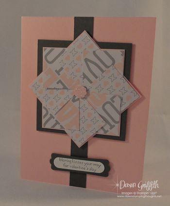 Valentine Pinwheel card