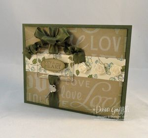 Crazy for Crumb Cake ~ Key to my Heart card
