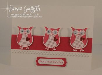 Happy Valentines Card~ Owls  SAB 2011 #1