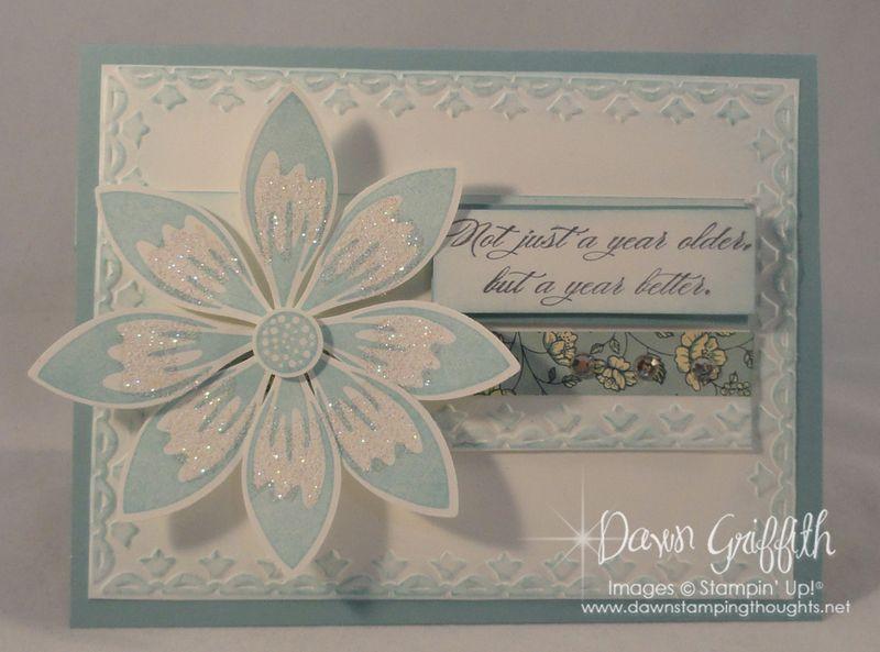 Birthday Petals card front