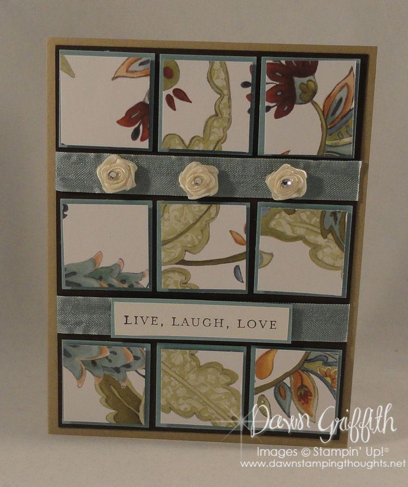 Live love laugh Paisley Petals card