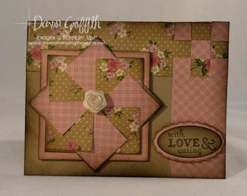With Love and Caring paper weave card