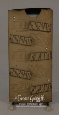 Chocolate candy bar wrapper