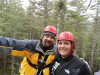Dad & Jessie zip line Juneau