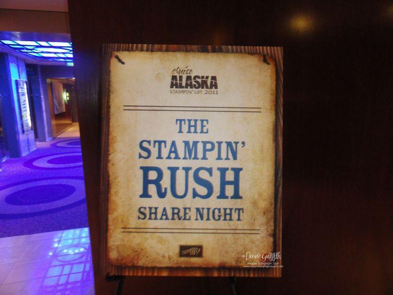 Stampin Rush share night