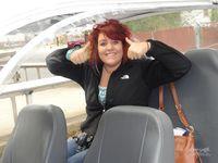 Jessie in  golfcart  car Ketchikan