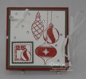 Fancy Fold Christmas card video  Dawns stamping thoughts uuT0dqLN