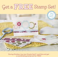 Simply sent  kits  get FREE coordinating stamp set