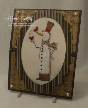 Snowman gate card