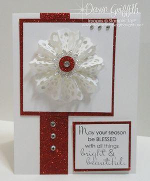 Snowflake rosette card #2