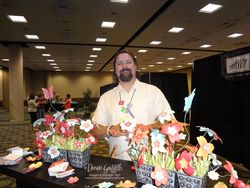 Hubby in the Memento Mall at convention