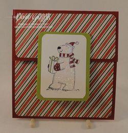 Polar Party gift card holder