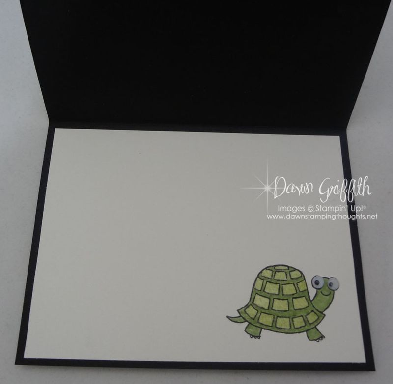 Thinking of you Faux turtle skin inside