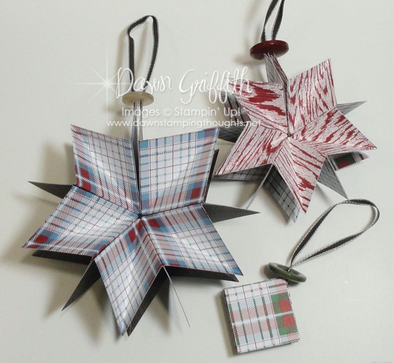 Paper Star Ornaments opened