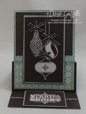 Merry & Bright Easel Card front