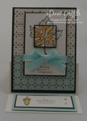 Easel card front