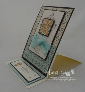 Easel card side view