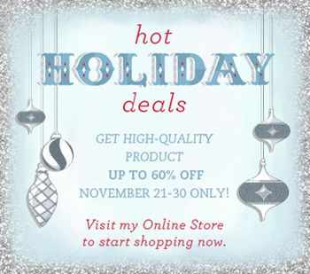 Hot Holiday Deals  Online Extravaganza Nov 21- Nov 30, 2011