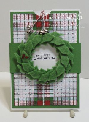 Stitched Felt Christmas card
