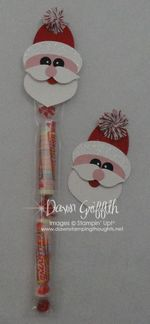 Santa Cello bag topper